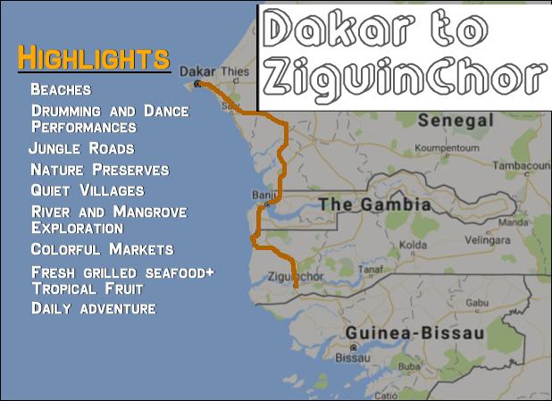 Dakar to Ziguinchor 8 days